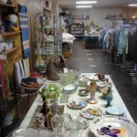 The Elegant Flea thrift store with items shown.